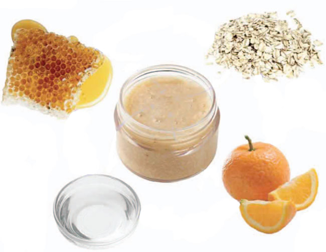 Honey And Oat Scrub For All Skin Types